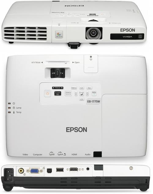 Проекторы Epson EB-1750, EB-1760W, EB-1770W и EB-1775W